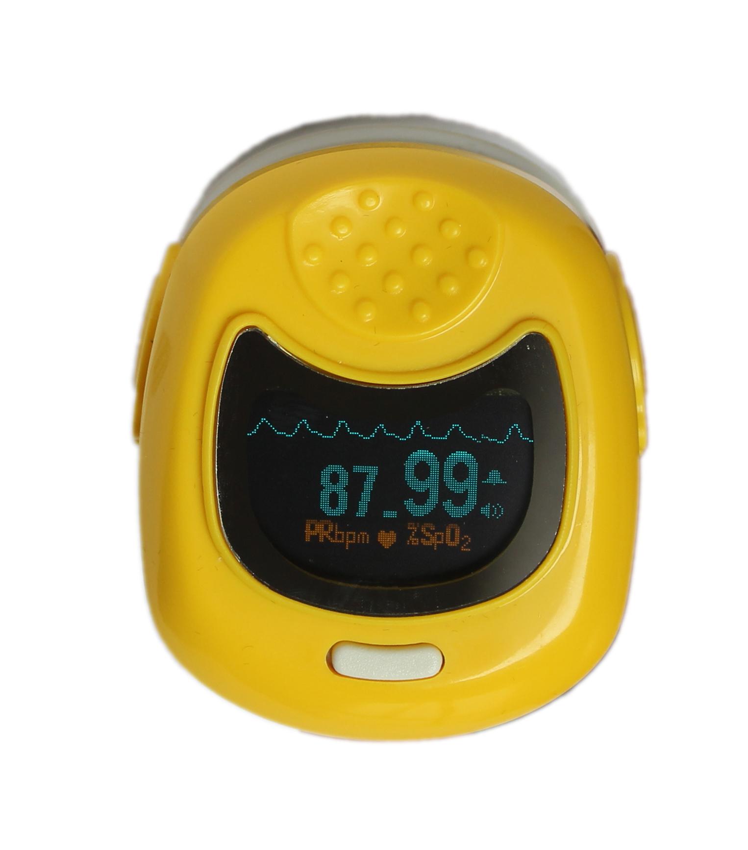 Colour Contec Child/ Pediatric Pulse Oximeter CMS50QB Yellow
